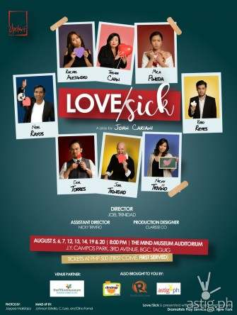 Love/Sick by John Cariani: romantic play by Upstart to be held in Mind Museum