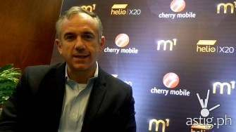 Finbarr Moynihan from Mediatek talks about the Helio X20 powered Cherry Mobile M1 [video]