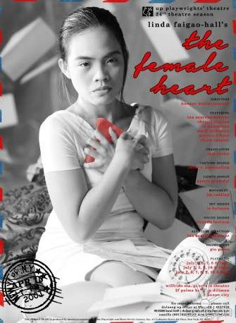 'The Female Heart' by UP Playwrights' Theatre debuts July 1