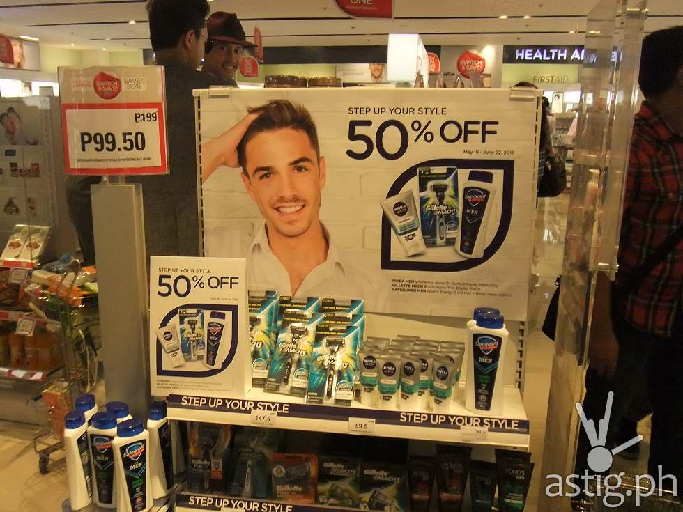 Men, Step up your style at Watsons. Time to be MANdated.