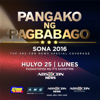 Duterte's first SONA live coverage on July 25