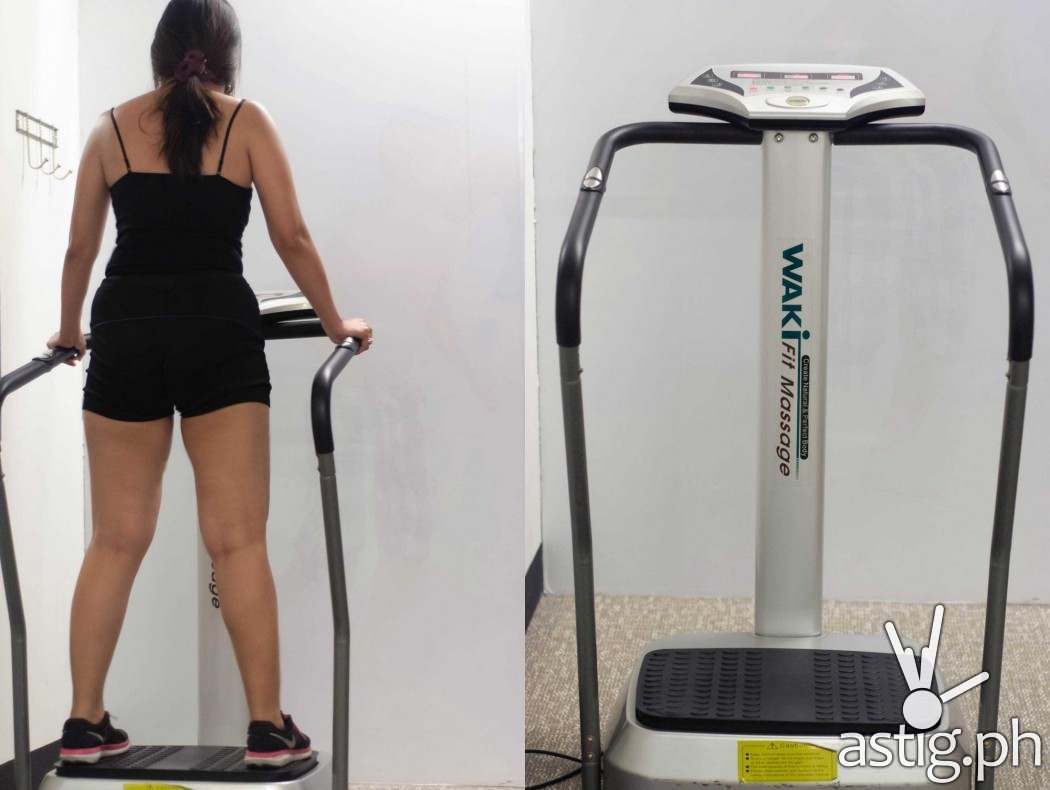 The Vibratrim machine shakes your entire body rapidly for 10 minutes to burn as much calories as a 30-minute jog