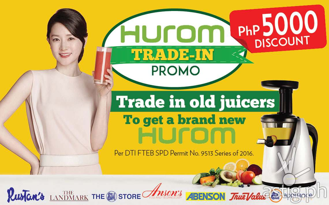 Hurom Slow Juicer Promotion : Trade Your Old Juicer for a New Hurom HA Series! - ASTIG.PH