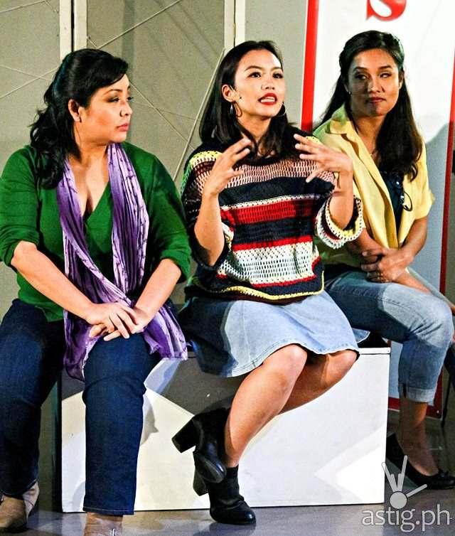 (L-R) Teenee Chan, Mica Pineda and Nicky Trivino