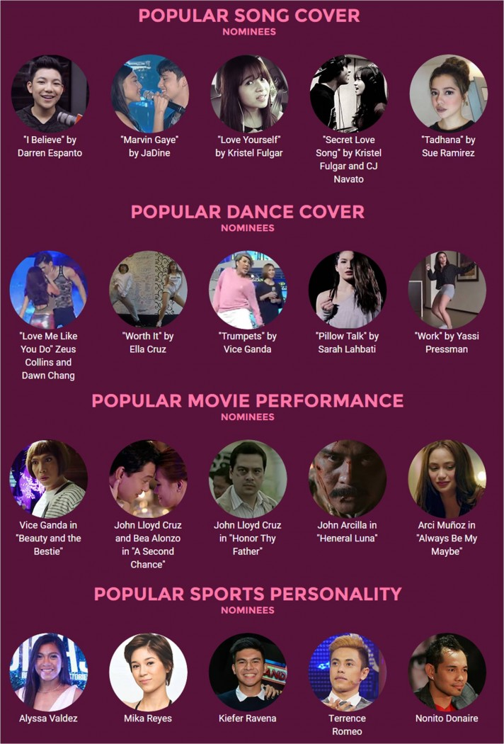 Special Awards Nominees