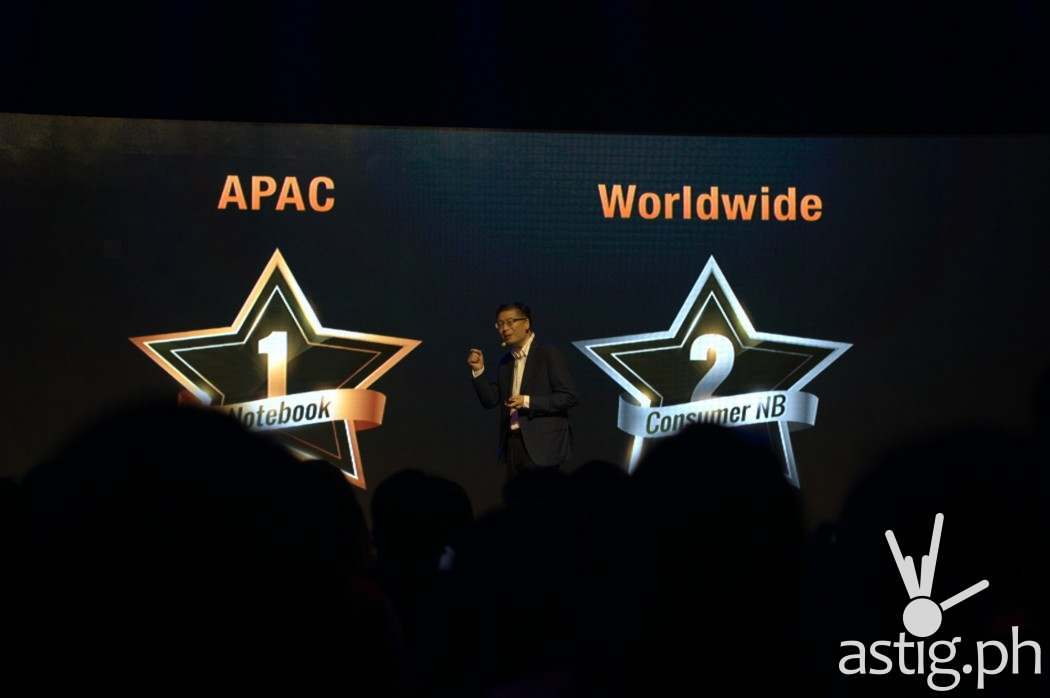 ASUS is #1 in APAC and #2 worldwide for laptops