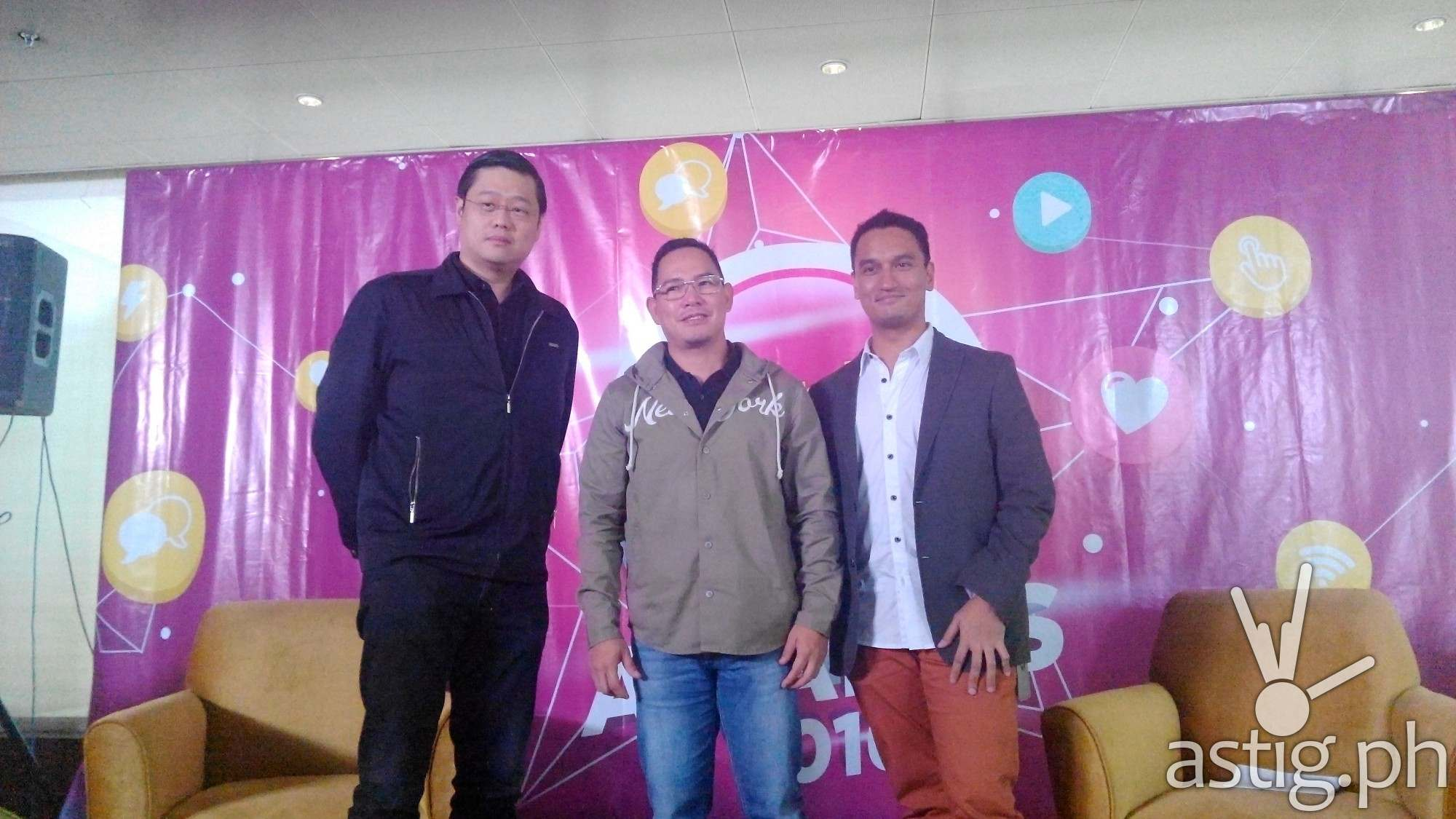 Push Awards Heads: Donald Lim, Richard Reynante and Domileo Espejo