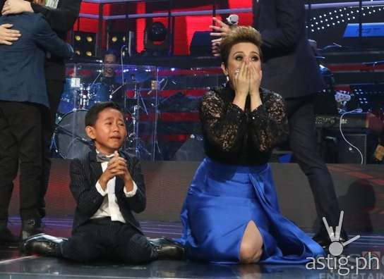 Joshua and coach Lea after the announcement