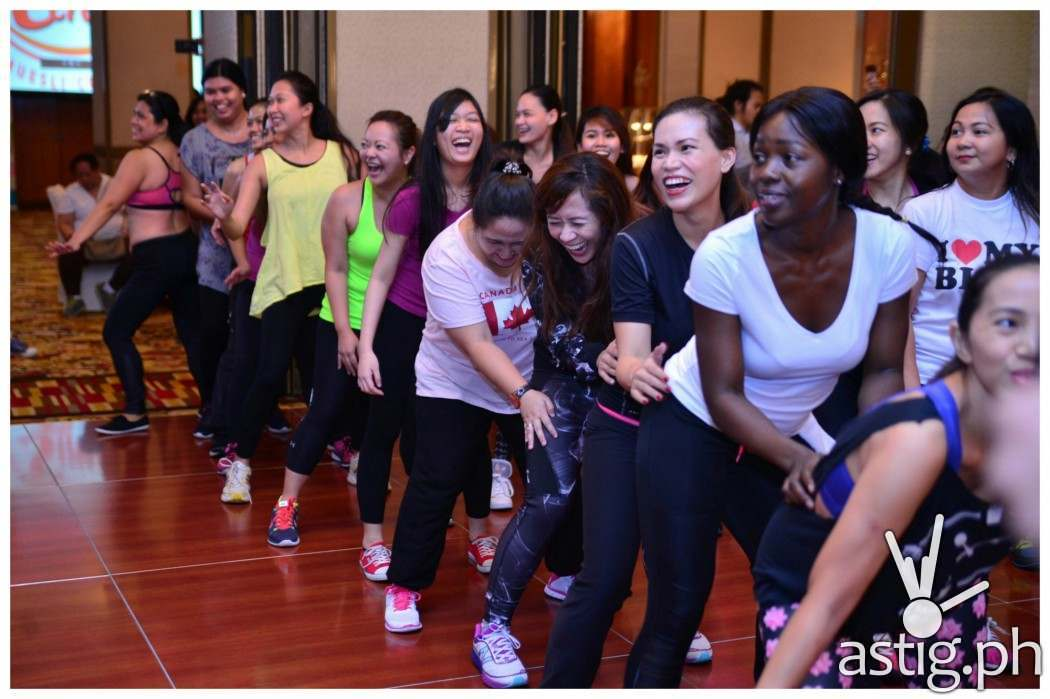 Event attendees enjoying an hour of exclusive Zumba session