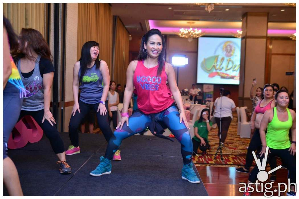 Celebrity Mom and certified Zumba instructor Regine Tolentino refreshes the workout habits of mom attendees