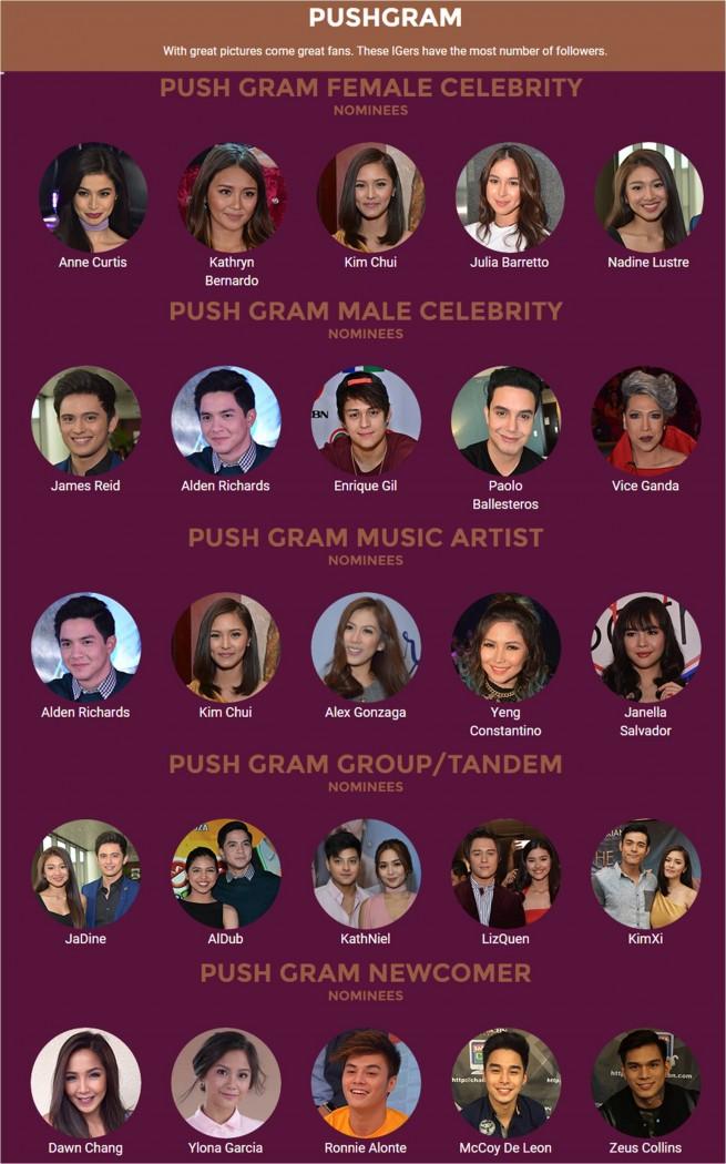 PushGram Nominees