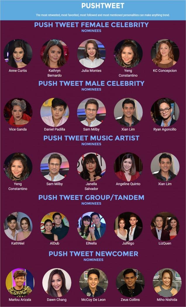 PushTweet Nominees