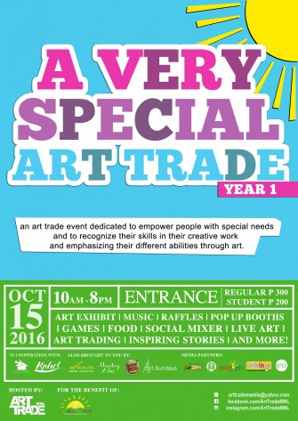 A Very Special Art Trade: benefit event on Oct 15 @ Mandaulyong [event]