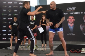 Rich Franklin, Brandon Vera, Eduard Folayang join MMA icons for open workout in Pasay City