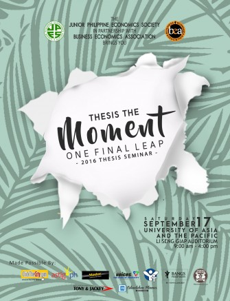 Thesis The Moment: Annual thesis seminar @ UA&P [event]