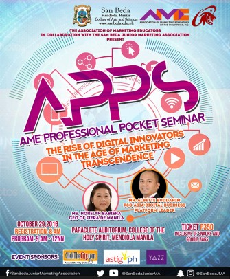 APPS: Rise of Digital Innovators in the Age of Marketing Transcendence Oct 29 @ Manila [event]