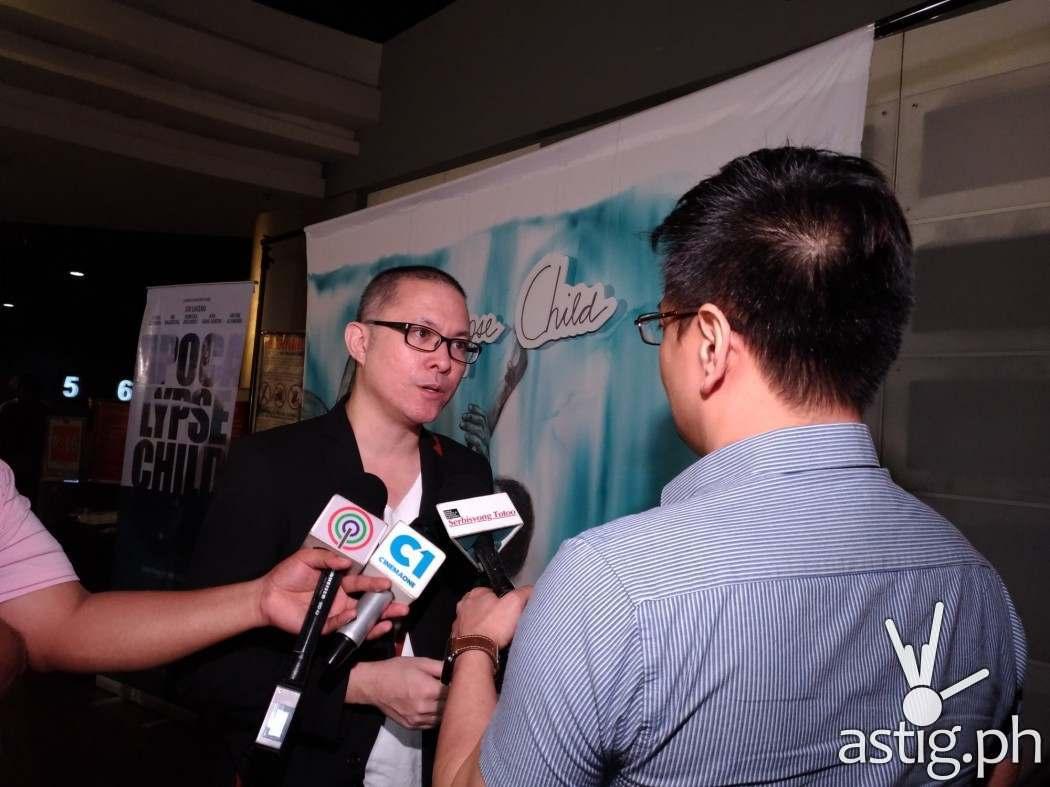 Mario Cornejo at the VIP pre-screening of Apocalypse Child