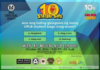 STATSki SAYS Oct 20 @ UPLB