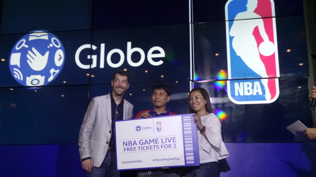 Globe x NBA raffled an experience to watch NBA Live Game in US.