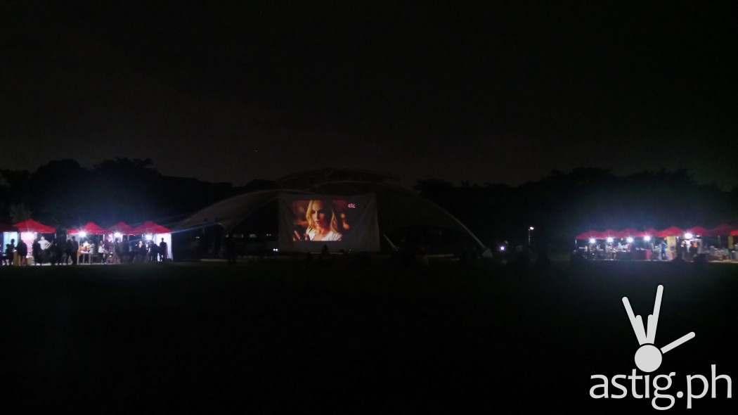 Outdoor Cinema Set-up