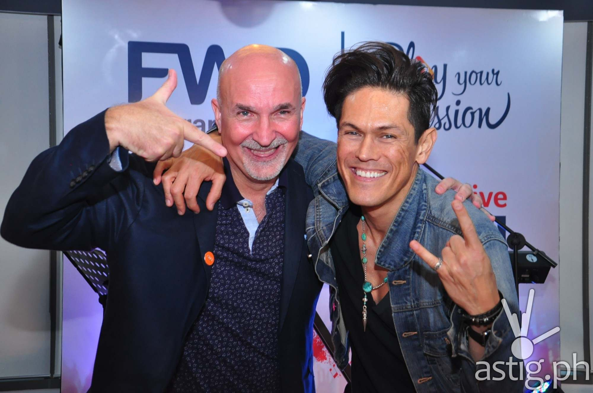 FWD CEO Peter Grimes with Mig Ayesa