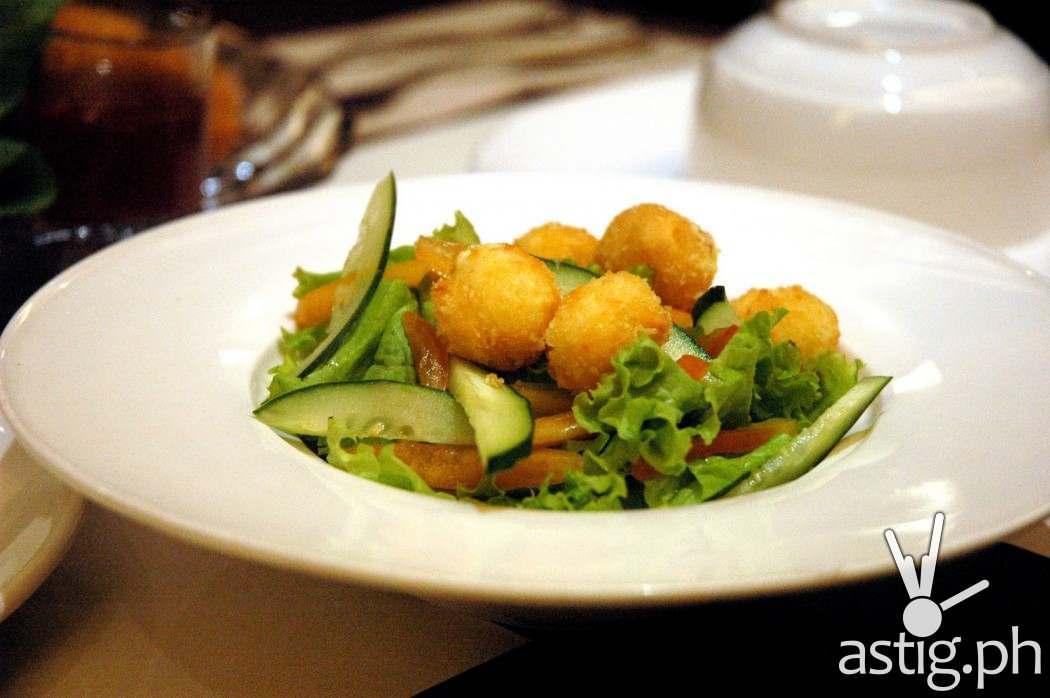 Fried Kesong Puti Ensalada - Pinac restaurant UP Town Center
