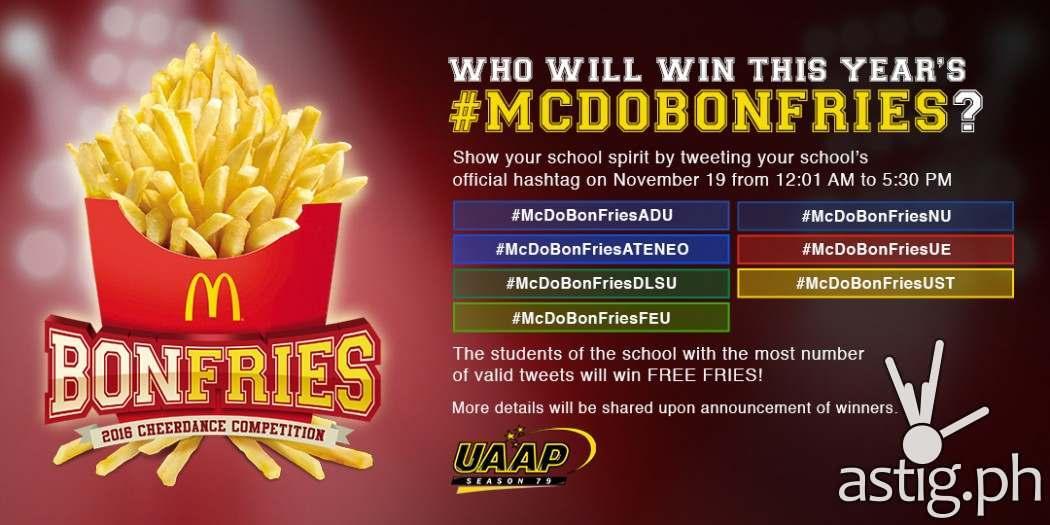 McDonalds BonFries Twitter stickers