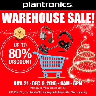 Altec Lansing, Plantronics warehouse sale Nov 21-Dec 9 @ San Juan [event]