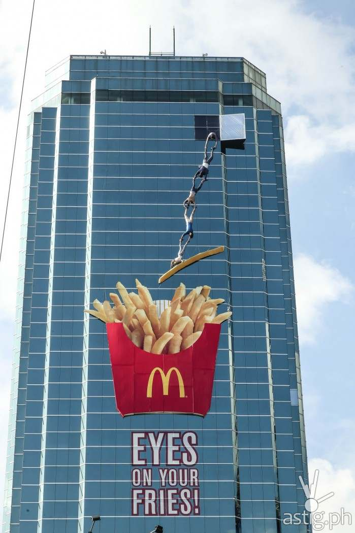 McDonald's World Famous Fries 3D billboard in Mandaluyong EDSA