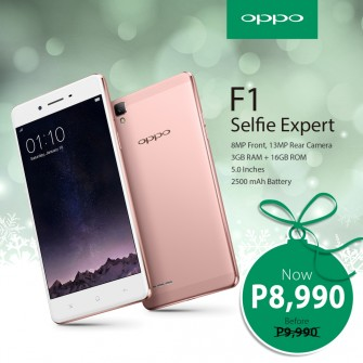 OPPO F1 price drops down to 8K for Christmas