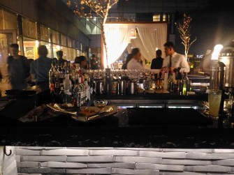 Enjoy great view and food at the White Moon Bar