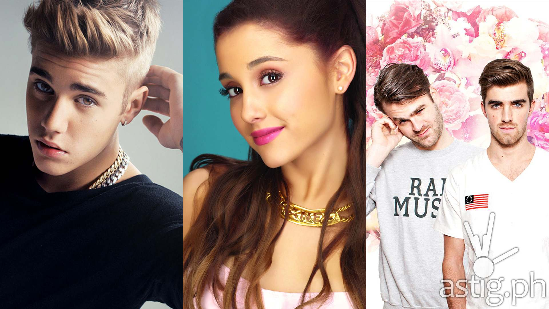 justin bieber ariana grande the chainsmokers
