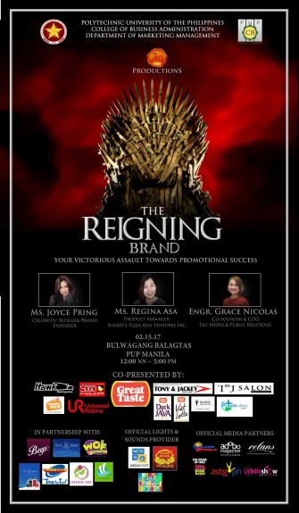 The Reigning Brand, Feb 15 @ PUP Bulwagang Balagtas [event]