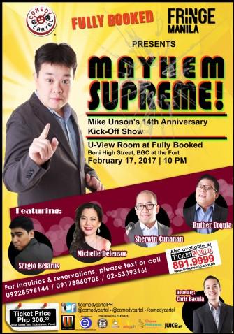 Mayhem Supreme!: Mike Unson's Anniversary Kick-Off Show [event]