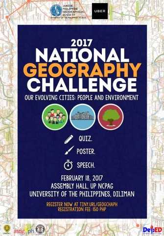 National Geography Challenge 2017, Feb 18 @ UP Diliman [event]