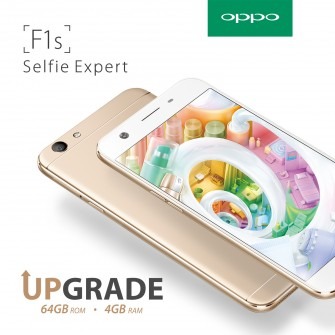 OPPO F1s upgrade: variant with double storage and RAM available starting Feb 3