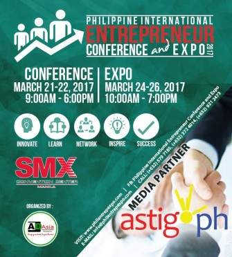 Philippine International Entrepreneur Conference & Expo (PIECE) 2017, March 21-22, 24-26 @ SMX [event]