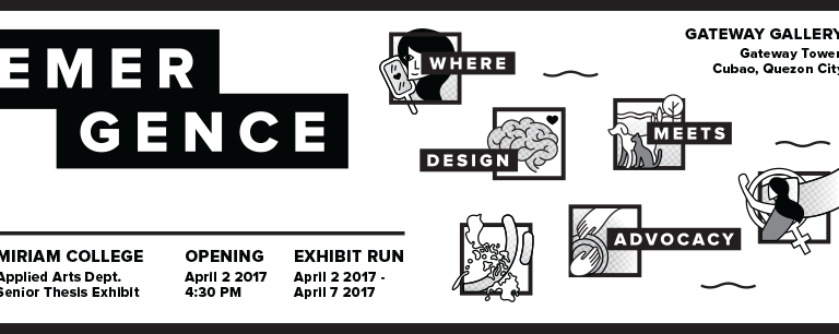 Emergence: Where Design Meets Advocacy, April 2 @ Gateway Cubao [event]
