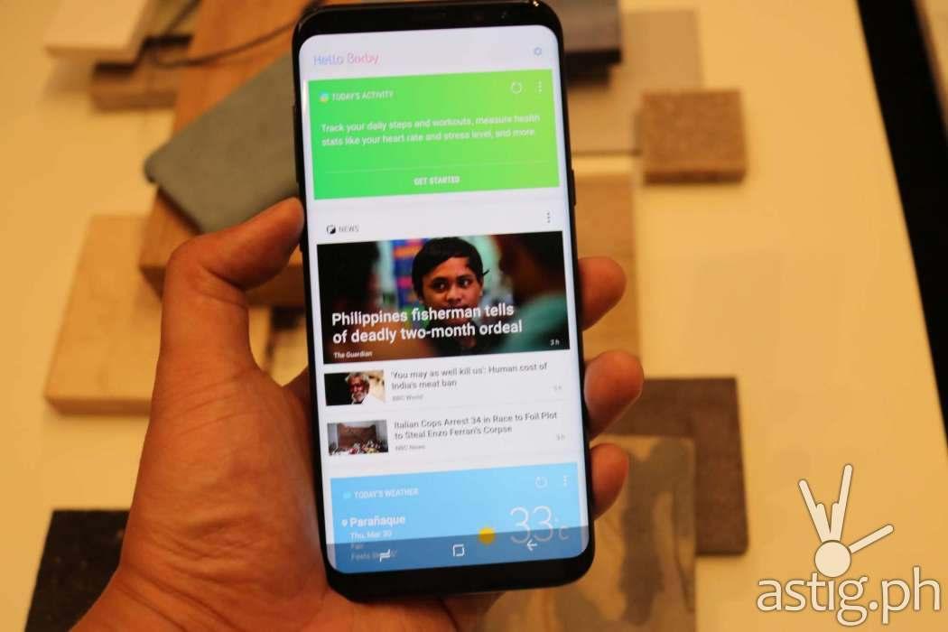 Samsung Galaxy S8 TouchWiz UI home