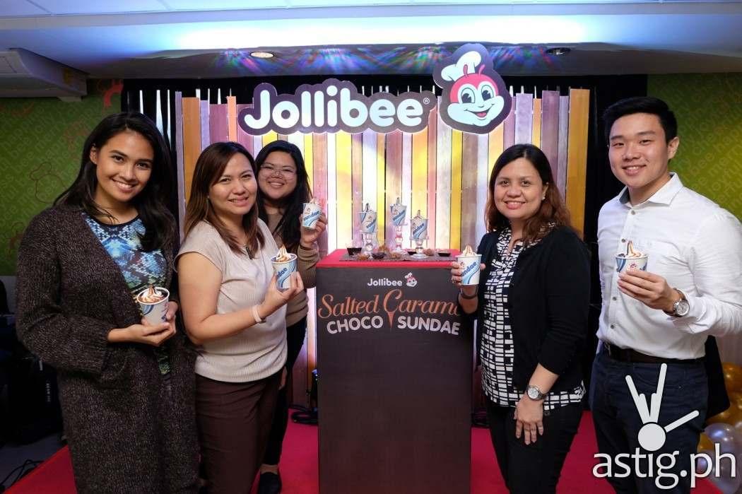Jollibee Philippines' Marketing team presenting the new Jollibee Salted Caramel Choco Sundae