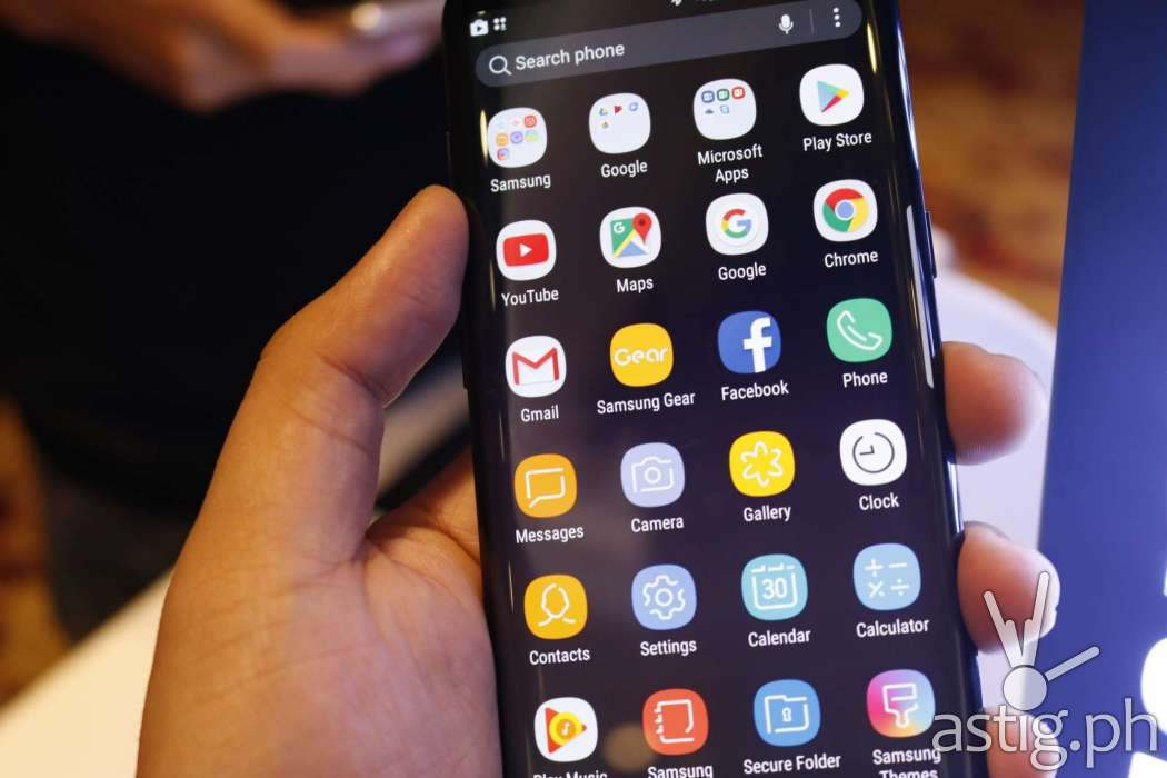 Samsung Galaxy S8 TouchWiz app drawer