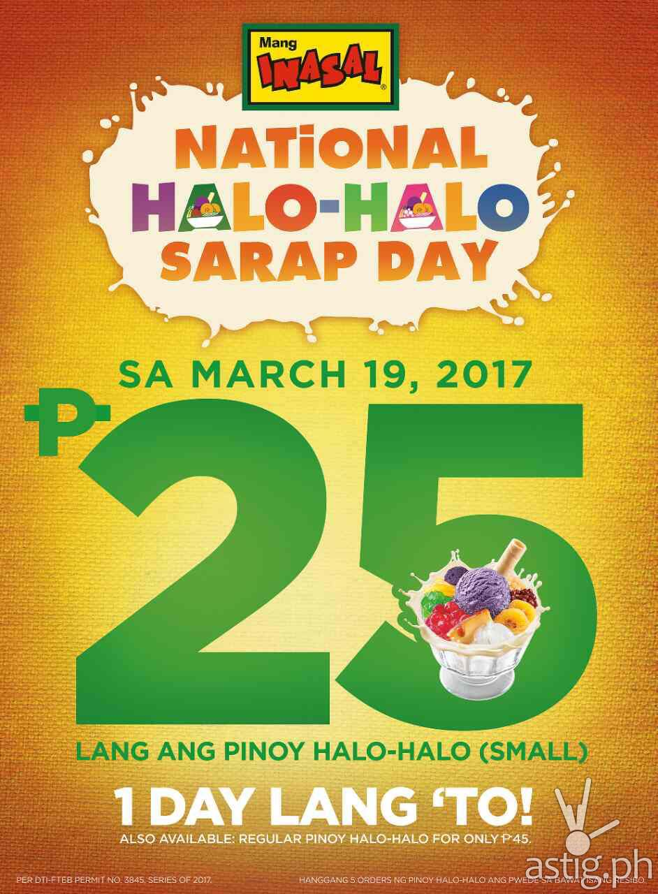 Mang Inasal National Halo-Halo Day 2