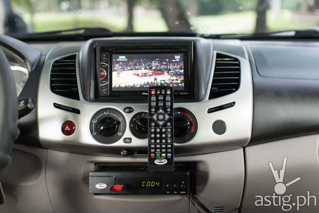 The WOW! TV Box is perfect for car installations