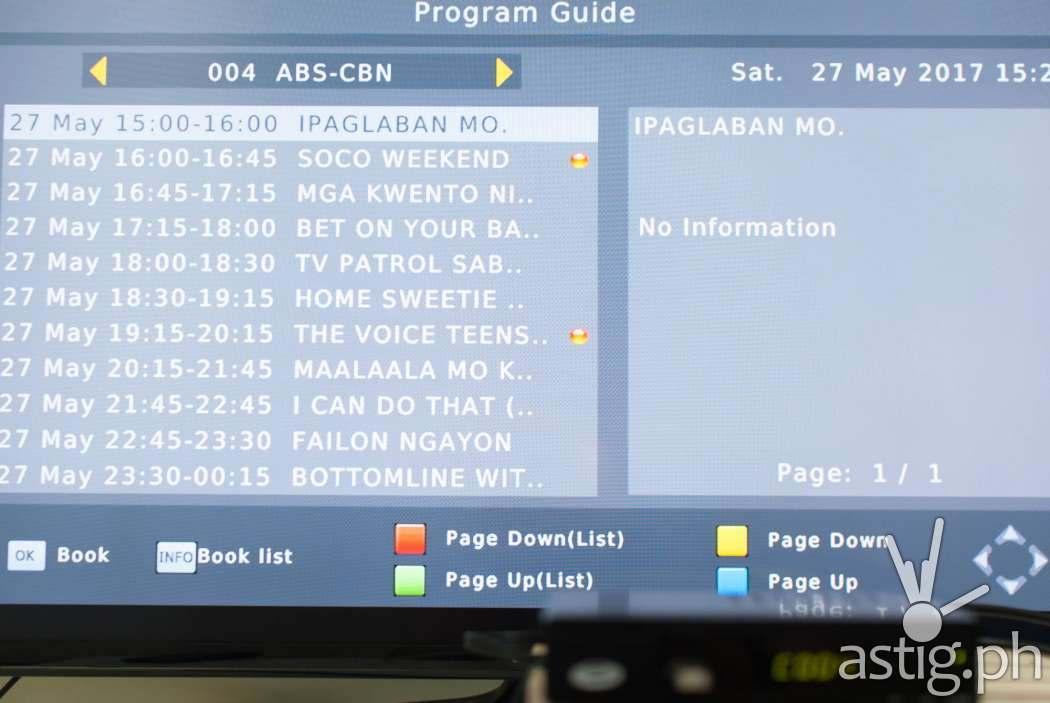 Electronic program guide (EPG) - WOW! TV Box