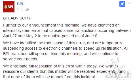 BPI hacked? Official statement blames 'internal system error'   ASTIG PH