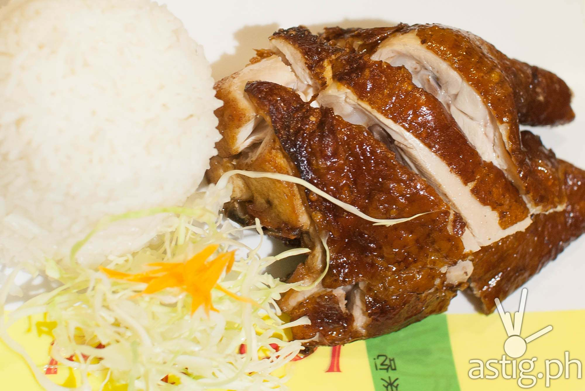 Chinese Fried Chicken with Rice - Let's Chow Rice and Noodle Haus restaurant Makati Cinema Square