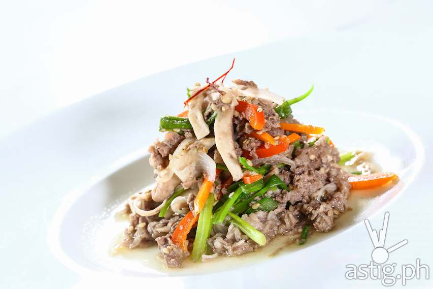 Beoseot Bulgogi – braised beef with mushrooms bulgogi