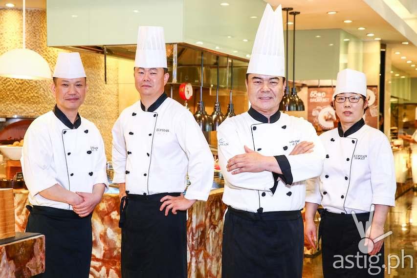 Korean Guest Chefs (L to R): Lee Yong Taek, Lee Youn Chul, Byung Eok An, Jeun Gi Nyeo