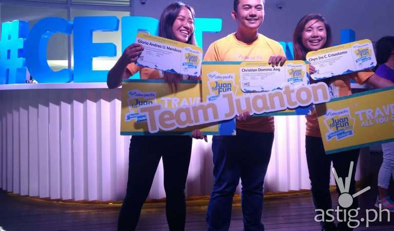 Davao teens bag 1 year unlimited flights from Cebu Pacific