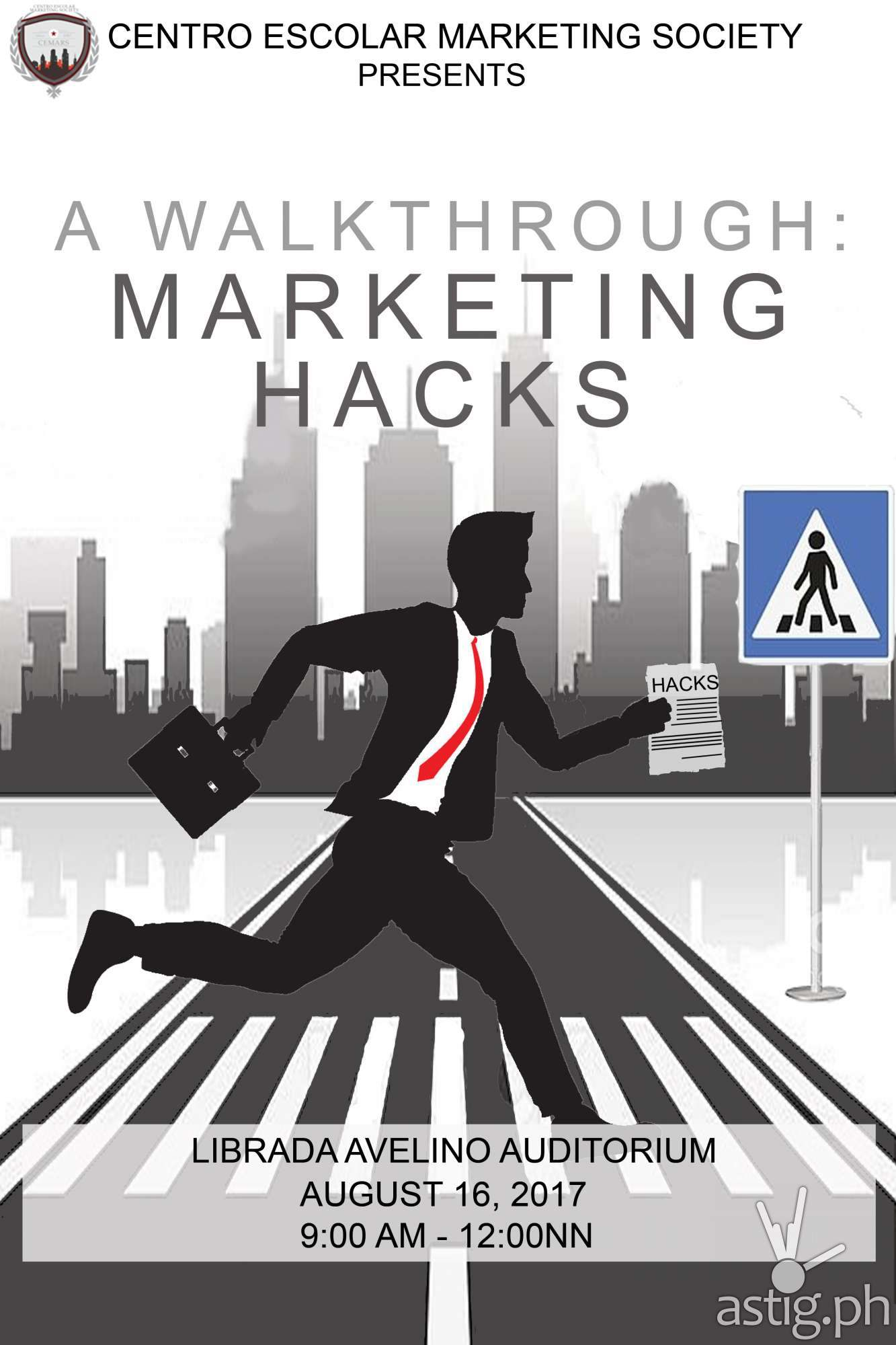 A Walkthrough Marketing Hacks CEU poster